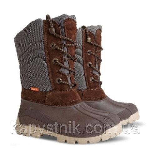 Зимние дутики, сноубутсы Demar VOYAGER a для мальчика р.25-34 ТМ Demar (Польша) коричневый