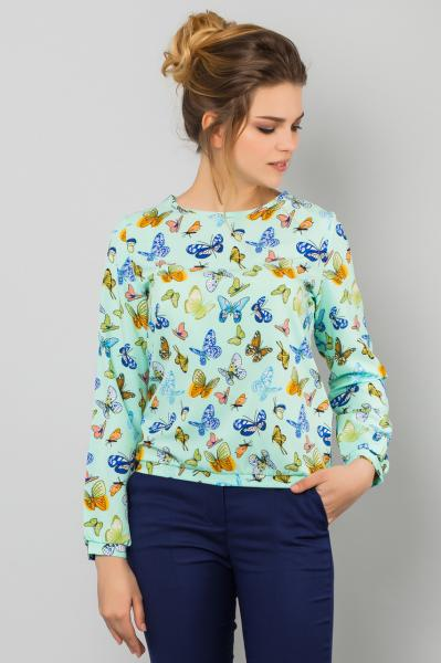 Блузка Бабочки на мятном