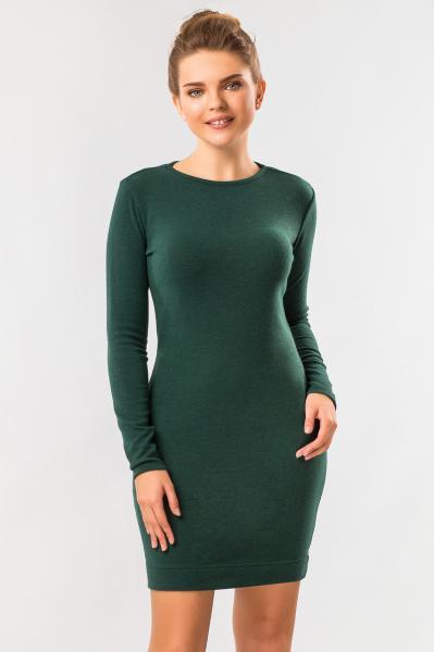 Изумрудное платье из ангоры