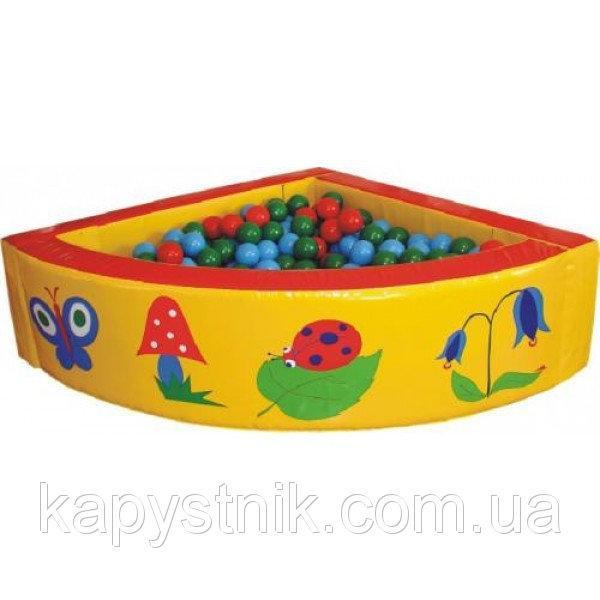 Сухой бассейн угловой 130-130-40 см с Аппликацией ТМ Тia-sport Тиа-Спорт: sm-0206 (Украина)