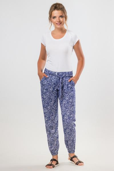 Синие летние брюки