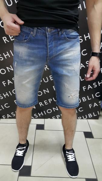 Шорты мужские джинсовые Plein 092417 премиум качество 100 котон реплика