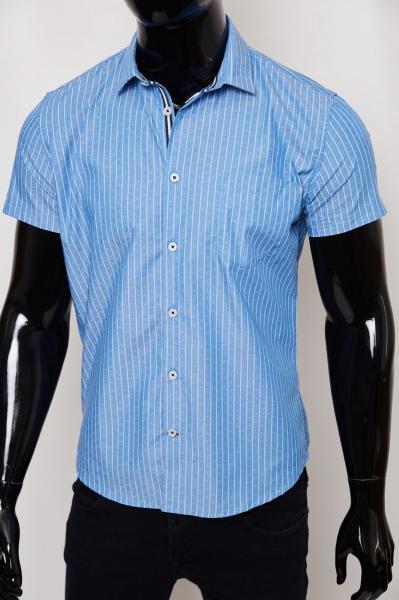 Рубашка мужская с коротким рукавом GS 950208 синяя
