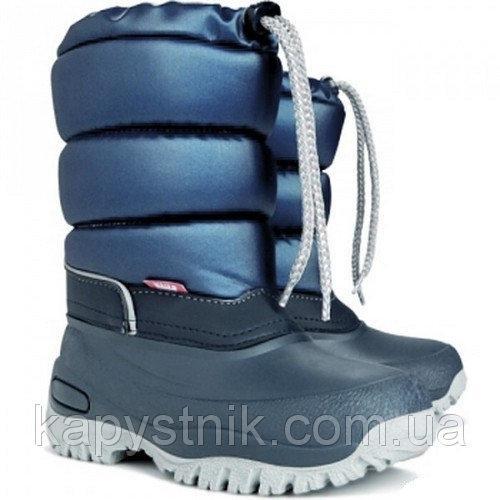 Зимние дутики, сноубутсы, сапоги Demar LUCKY-M A  для девочки р.36-42 ТМ Demar (Польша) синий