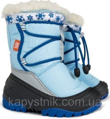 Зимние сапоги, сноубутсы Demar FUZZY A для девочки р.20-29 ТМ Demar (Польша) голубой