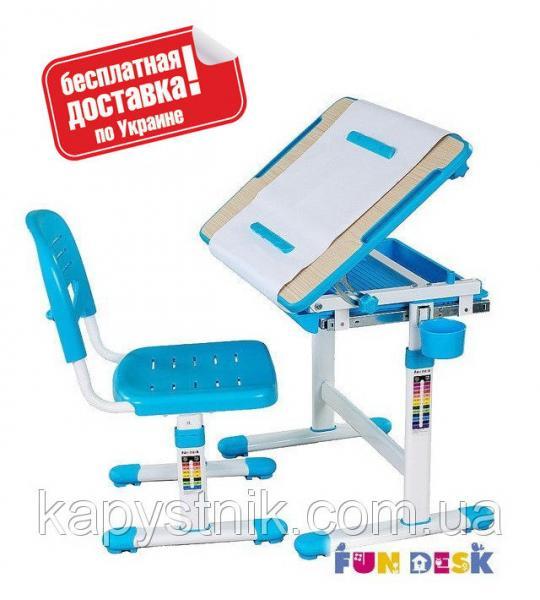 Детская парта-растишка со стульчиком для дома ТМ FunDesk Bambino Blue