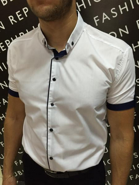 Рубашка мужская De Forc короткий рукав 183259 белая