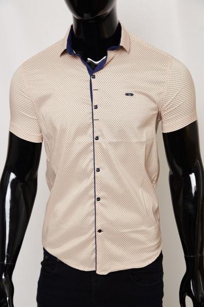 Рубашка мужская короткий рукав PS 2097_1 айвори