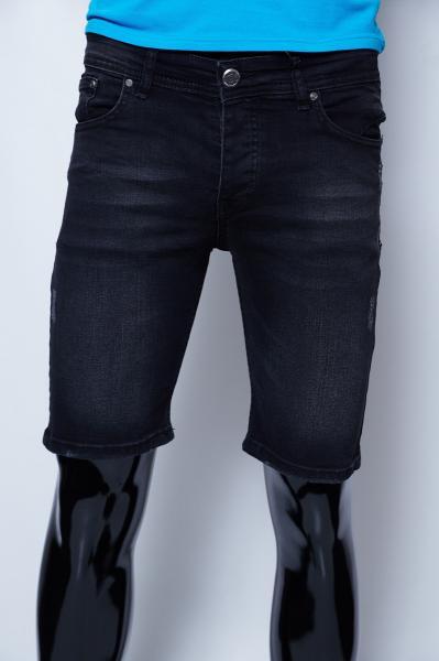 Шорты мужские джинсовые Philipp Plein 9960 черные реплика