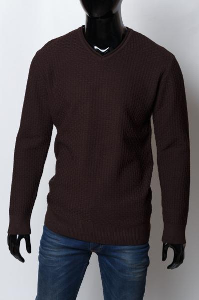 Свитер мужской плотный Bnx батал 152459008_b_3 коричневый