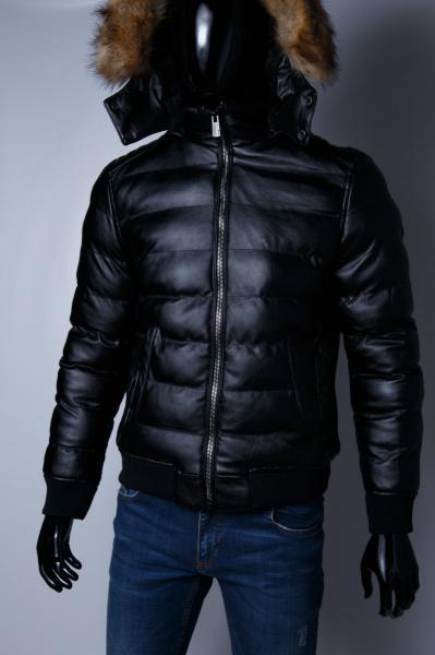 Куртка мужская кожзам на меху GS 067738