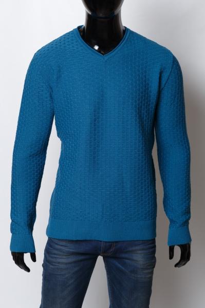 Свитер мужской Bnx 150150935_b батал светло - синий