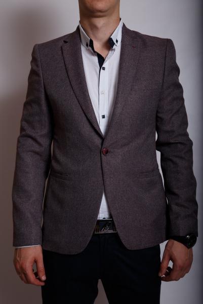 Пиджак мужской льняной Luis Berg 799564 бургундий