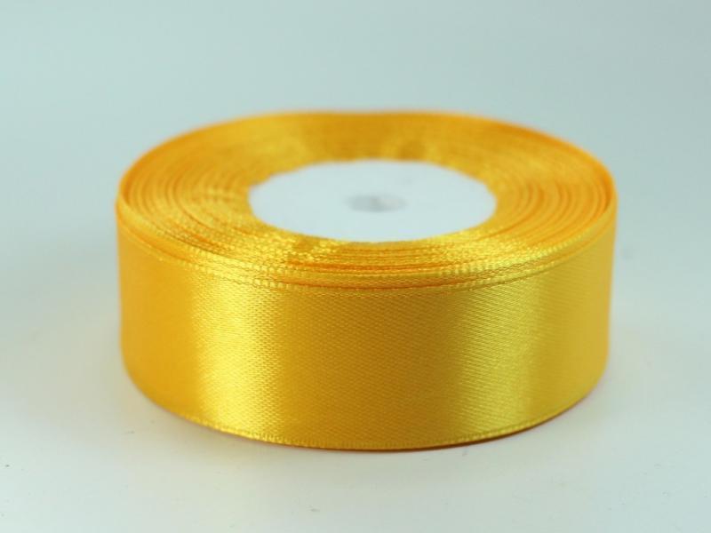 Фото Ленты, Лента атласная однотонная 2,5 см Атласная лента  2.5 см.  ярко - жёлтая