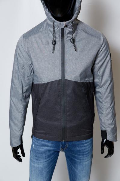 Куртка мужская демисезонная FR 1591_1 черная с серым