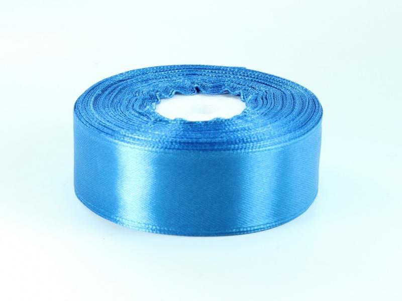Атласная лента  2.5 см.  светло-синий