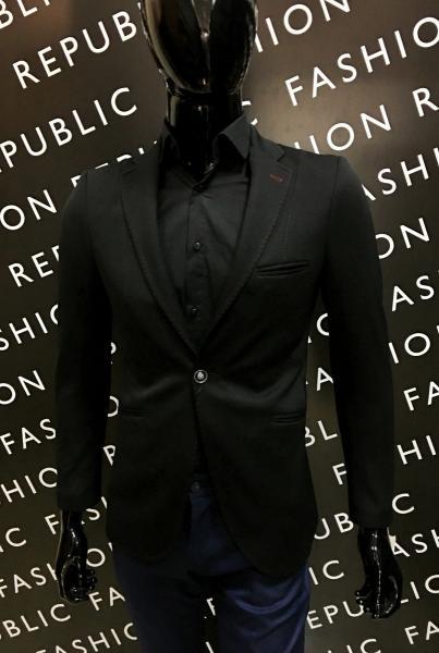 Пиджак мужской стрейч FR 879757 черный