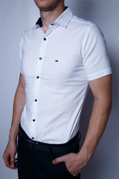 Рубашка мужская короткий рукав Tommy 95777 белая