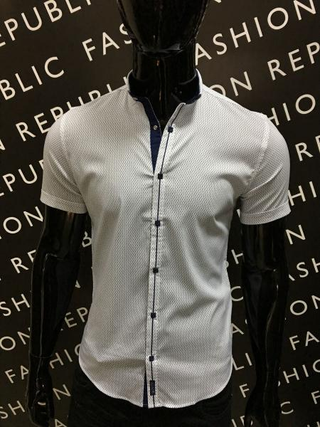 Рубашка мужская с коротким рукавом Amato 311419 белая