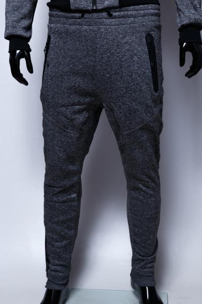 Спортивные штаны мужские утепленные GS 7970 серый меланж