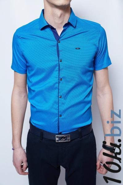 95b00ae2a37 Рубашка мужская короткий рукав PS 2097 ярко-синий Мужские рубашки в Украине