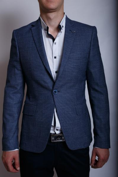 Пиджак мужской льняной Luis Berg 559752 синий