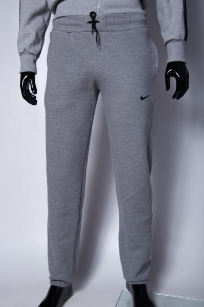 Спортивные штаны утепленные мужские NK 9916_1 серые реплика