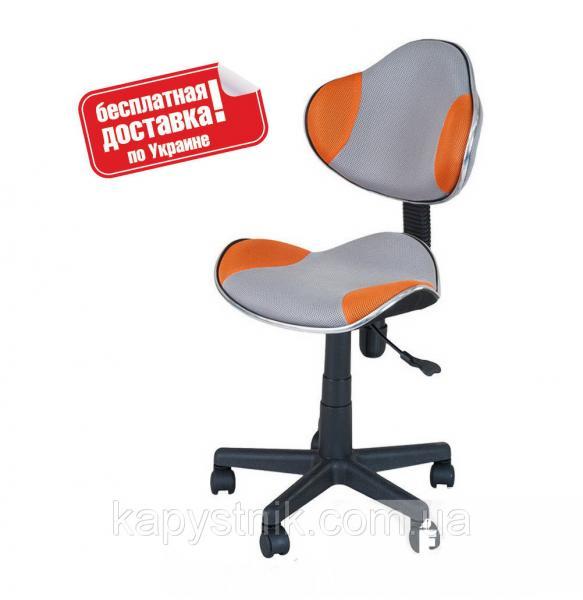 Детское компьютерное кресло ТМ FunDesk LST3 Orange-Grey