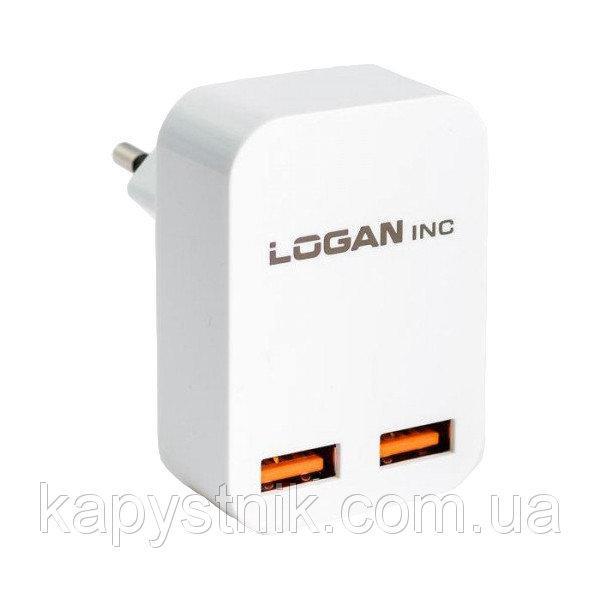 Сетевое зарядное устройство Logan Dual USB Wall Charger (CH-2)
