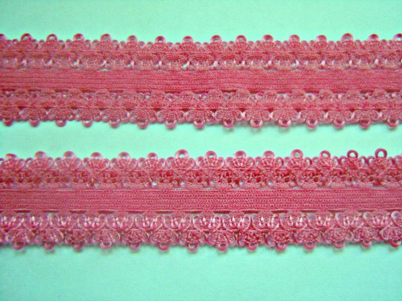 Фото Кружево ,тесьма ,сетка,резинка, Резинка для повязок, резинка простая. Тесьма - резинка 22 мм. для повязочек . Коралового цвета.