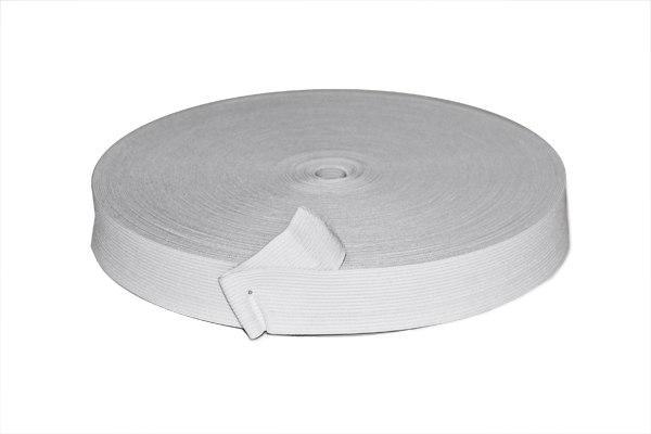 Фото Кружево ,тесьма ,сетка,резинка, Резинка для повязок, резинка простая. Резинка  трикотажная   Белого  цвета ,  ширина  2 см.