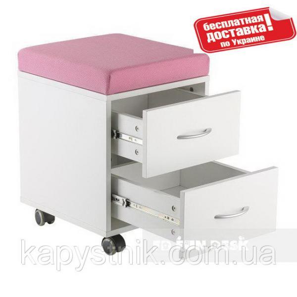 Детская тумбочка-пуфик для хранения личных вещей ТМ FunDesk SS15W Pink