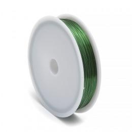 Проволока  0,3 мм.  зелёного  цвета .  В катушке 50 метров.