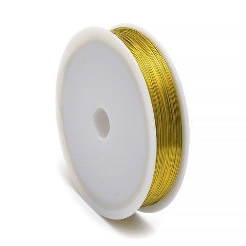 Проволока  0,3 мм.   Золотого  цвета . В катушке 50 метров.