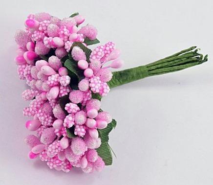 Фото Тычинки , добавки,ягодки Тычинки на веточке   Розового  цвета .  1  упаковка  12 веточек .
