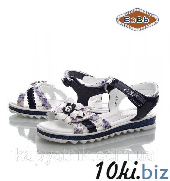 Босоножки, сандалии нарядные для девочки р.31-36 ТМ EeBb  1045-4 d/blue-white, цена фото купить в Киеве. Раздел Летняя детская и подростковая обувь