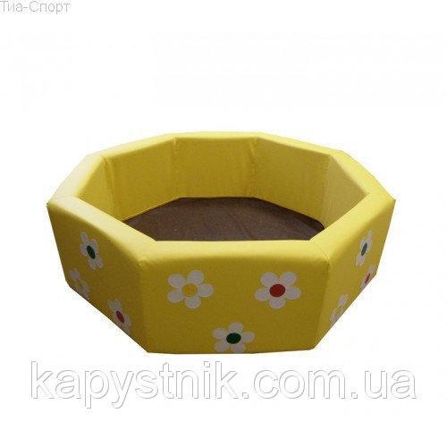 Сухой бассейн Восьмигранник с аппликацией 1,5 м ТМ Тia-sport Тиа-Спорт: sm-0302 (Украина)