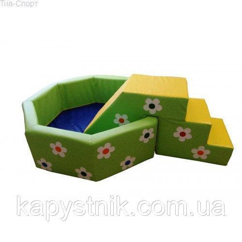 Сухой бассейн с горкой  Цветочек 1,5 м ТМ Тia-sport Тиа-Спорт: sm-0300 (Украина)