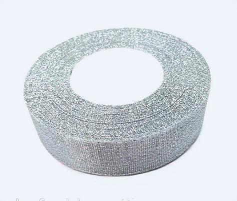 Фото Ленты, Лента парча 0.6мм-5см Лента парча 2,5 см .  Серебряного  цвета .