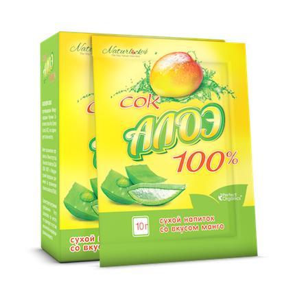 Сок Алоэ Вера со вкусом Манго