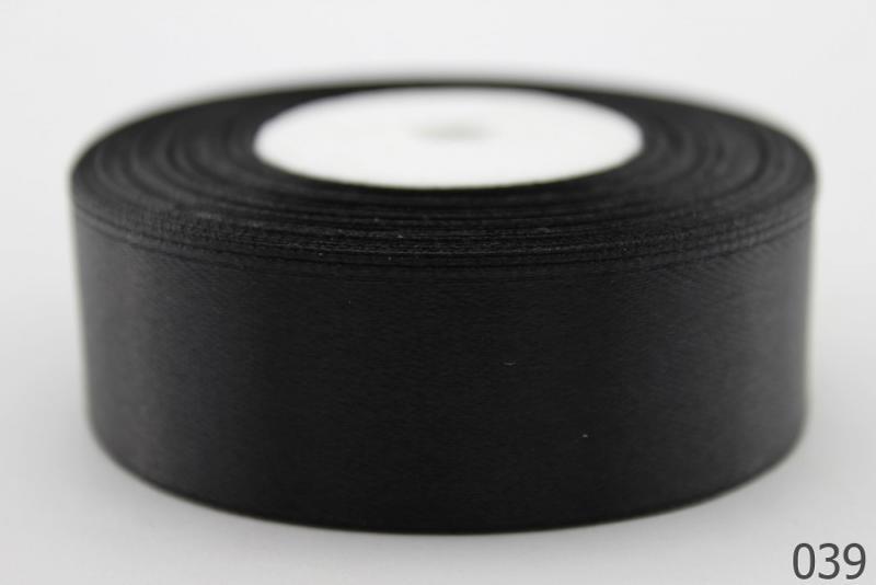 Лента  атласная  2,5 см.  Чёрного  цвета .