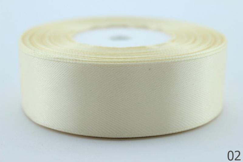 Лента  атласная  2,5 см.  светло - кремового  цвета .