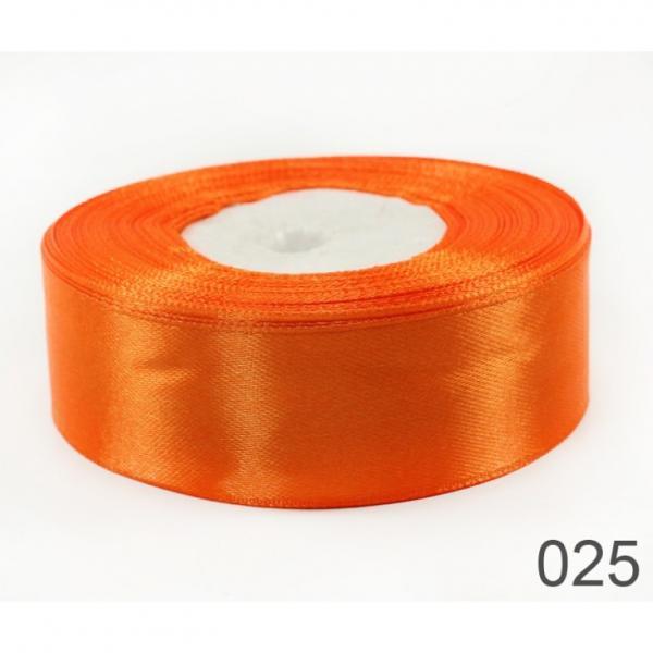 Лента  атласная  2,5 см.  Оранжевого  цвета .