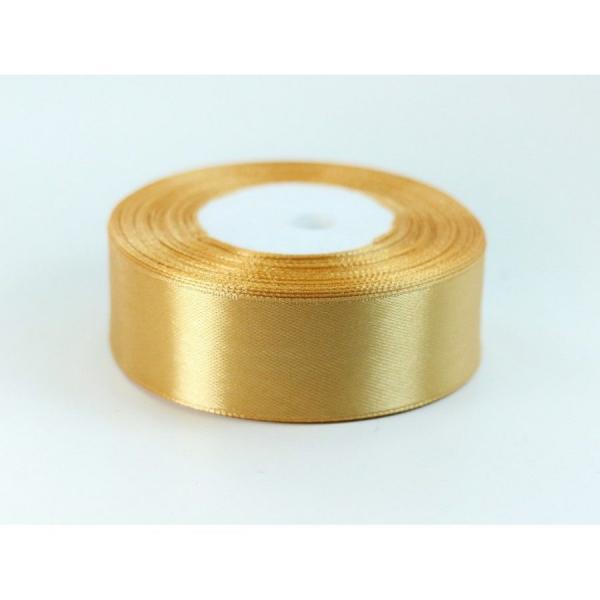 Лента  атласная  2,5 см.  Золотого  цвета.