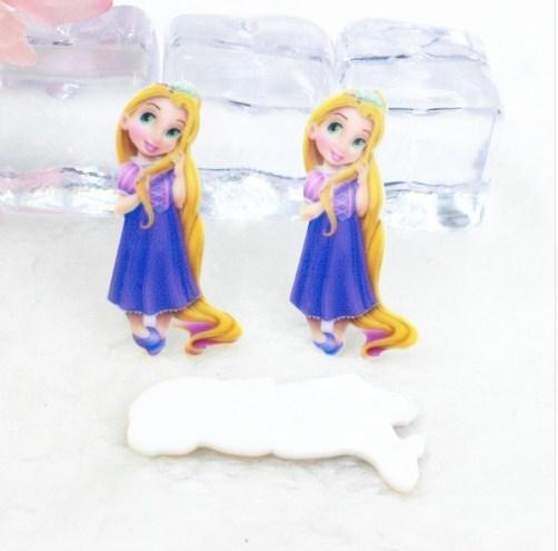 Фото Серединки ,кабашоны, Кабашоны детские мультики Серединка пластиковая  40х16мм   принцесса- Рапунцель