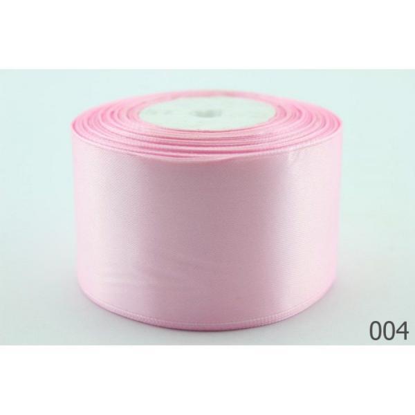 Атласная лента 5 см , цвет  светло - розовый.