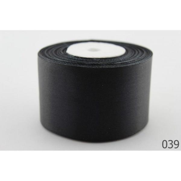 Атласная лента 5 см , цвет  Чёрный.