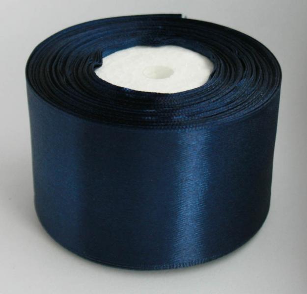 Атласная лента 5 см , цвет   тёмно - Синий.