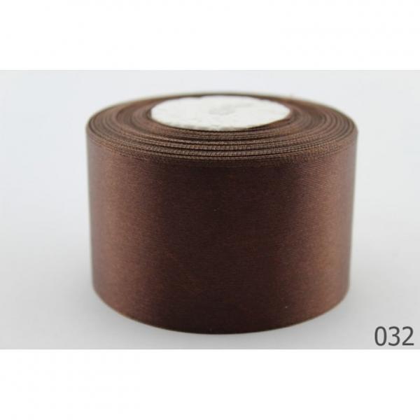 Атласная лента 5 см , цвет  Шоколадный.