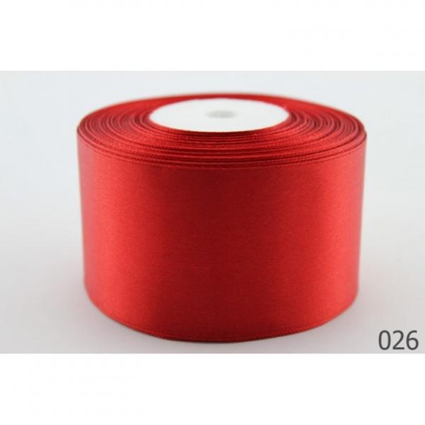 Атласная лента 5 см , цвет  Красный.